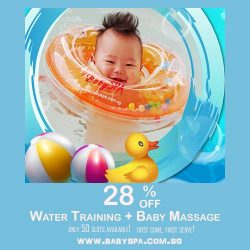 [Compass One] 28% OFF Water Training plus Baby Massage (1st Trial) on Weekdays!