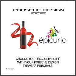 [Trendy Eyes] SHOP NOW at participating outlets for a FREE wine package with purchase of Porsche Design eyewear.