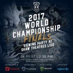 [Shaw Theatres] This has been brewing for awhile but we're proud to be able to announce that our 2017 World Championship