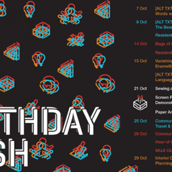 [library@orchard] LOUD PRINTS - October Programme ListingIt's our birthday this month, and we're really excited to be turning three