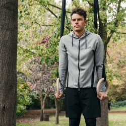 [Jack Wills] Max Lowery owns those rings in the Bayham Hoodie.