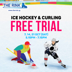 [THE RINK] Enjoy and learn a NEW sport with your family and friends this Saturday with a FREE curling and ice hockey