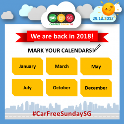 [Falcon PEV] CarFreeSundaySG has been extended into 2018!