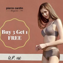 [Pierre Cardin] Promotion extended: buy any 3 pieces from Pierre Cardin's Miracle Collection and get 1 free (U.
