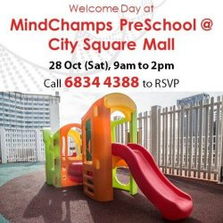 [MindChamps Medical] You are invited to MindChamps PreSchool @ City Square Mall Welcome Day this 28 October (Sat)!