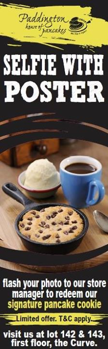 [Paddington House of Pancakes] Want our free signature Cookie & Java pancake cookie?