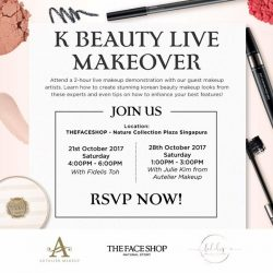 [THE FACE SHOP Singapore] We're having a K Beauty Live Makeover with guest makeup artist – Julie Kim today!