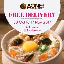 [A-One Claypot House] Chase your Monday blue away with A-One foodpanda free delivery with min.