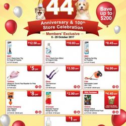[Pet Lovers Centre Singapore] 44th Anniversary Promotion is now on!
