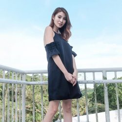 [MDSCollections] On sale item, also our online best sellers | Ruffled Cami Dress In Midnight