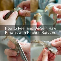 [THE SEAFOOD MARKET PLACE BY SONG FISH] How to Peel and De-Vein Raw Prawns with your Everyday Kitchen Scissors (Easy!