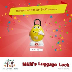 [The Cocoa Trees] An all adorable and sturdy M&M's Luggage Lock that also saves you $13.