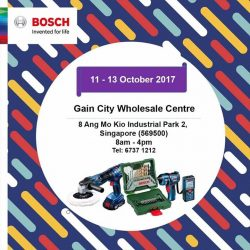 [Gain City] Gain City X Bosch Professional Power Tools and Accessories roadshow is happening at Gain City Ang Mo Kio Wholesale Centre.