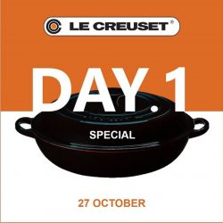 [Le Creuset] Here's the clue to DAY 1 SPECIAL BUY at our Family Sale.