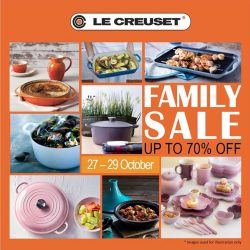[Le Creuset] LE CREUSET FAMILY SALE (up to 70% off) 27 - 29 October, Friday to Sunday .