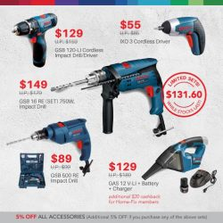 [Home-Fix Singapore] Been itching to make some DIY improvements to your home and eyeing those pretty Bosch drill sets?