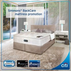 [Citibank ATM] Experience unsurpassed motion separation and unparalleled support for self-rejuvenating sleep with Simmons® BackCare mattress.