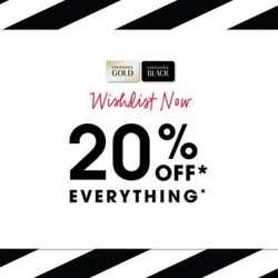 [SEPHORA Singapore] SephoraPrivateSale2017: Sephora Gold & Black Members, it's almost time to enjoy 20% off on ALL brands online and in stores!