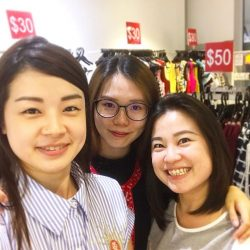 [Butterflies & Marigolds] wefie📷 Our lovely ladies at the shop today, looking extremely perky & cheerful on the 1st day of our MOVING OUT