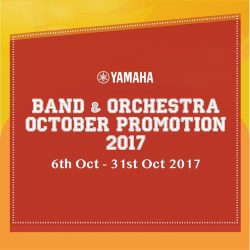[YAMAHA MUSIC SQUARE] Join us for B&O October Promotion from 6th - 31st October 2017.