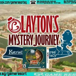 [GAME RESORT] 3DS Layton's Mystery Journey,Celebrate 10 years of mystery solving with the latest entry into the PROFESSOR LAYTON series,