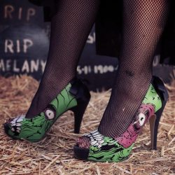 [Iron Fist Clothing] Walk around the graveyard in your new pair Zombie Stomper Platforms are on sale now for only $19.