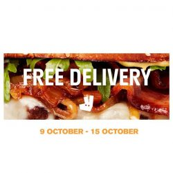 [Cedele] Enjoy FREE DELIVERY on Deliveroo when you order from us from 9 October to 15 October.