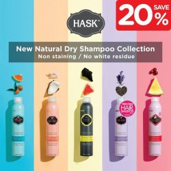 [Watsons Singapore] Second-day hair has never felt so good thanks to HASK's award winning dry shampoo!