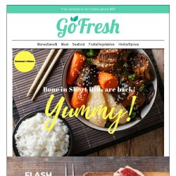 [GoFresh] 15% off our delicious and favourite Bone in Short Ribs.