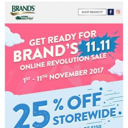 [Brand's] Are you ready? 🌟 BRAND'S® 11.11 Online Revolution starts NOW! 🌟