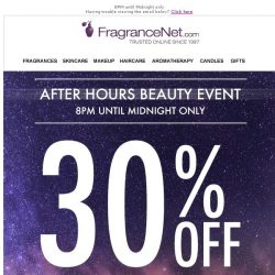 [FragranceNet] You're invited to our Exclusive After Party Sale! ☾