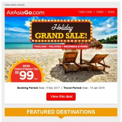 [AirAsiaGo] 🌟 Holiday Grand Sale! | Book Now 🌟