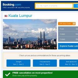 [Booking.com] Deals in Kuala Lumpur from S$ 11