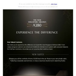[Singapore Airlines] Presenting the new Singapore Airlines A380