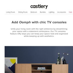 "[Castlery] TV Consoles that make you go ""woah"""
