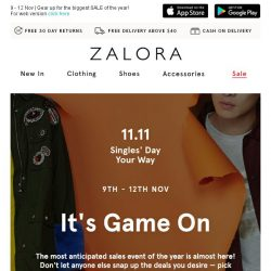 [Zalora] Secret tips and tricks for our 11.11 Singles' Day Sale!