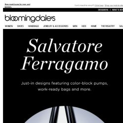 [Bloomingdales] The Latest from Salvatore Ferragamo