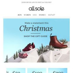 [Allsole] Make a statement this Christmas