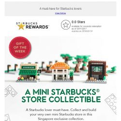 [Starbucks] Introducing A Mini Starbucks Store Collectible and Tote Bag