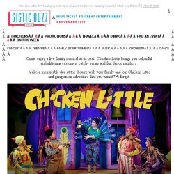 [SISTIC] Chicken Little – treat your kids (and yourself) to this toe-tapping musical. Must end 8 Dec!