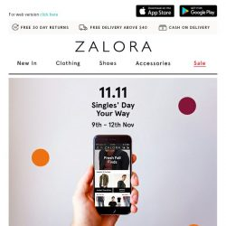 [Zalora] On your phone? Receive exclusive deals with our App!