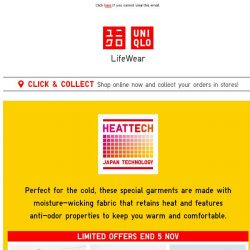[UNIQLO Singapore] It's going to be a warm weekend.