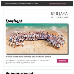 [Berjaya Hotels & Resorts EDm] It's time for holidays with Berjaya Hotels and Resorts!
