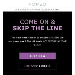 [Foreo] Your VIP Ticket to the 11/11 FOREO Sale is Here