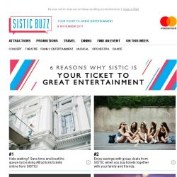 [SISTIC] Here are 6 reasons why SISTIC is Your Ticket to Great Entertainment!