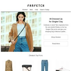 [Farfetch] Singles' Day is calling   Fashion favourites from Dilraba