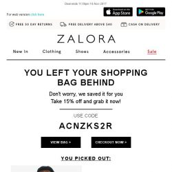 [Zalora] Your shopping bag is waiting!