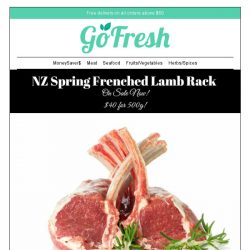 [GoFresh] New Product in GoFresh : NZ Spring Lamb Frenched Rack