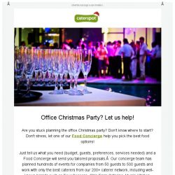 [CaterSpot] Let our Food Concierge help you plan your Office Party Catering
