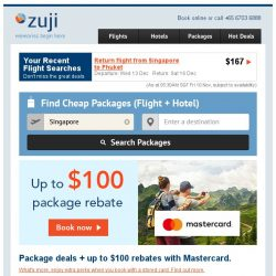 [Zuji] Last 3 Days: Up to $100 off packages!